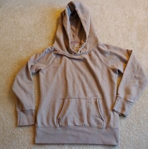 American eagle outfitters tan hooded sweatshirt